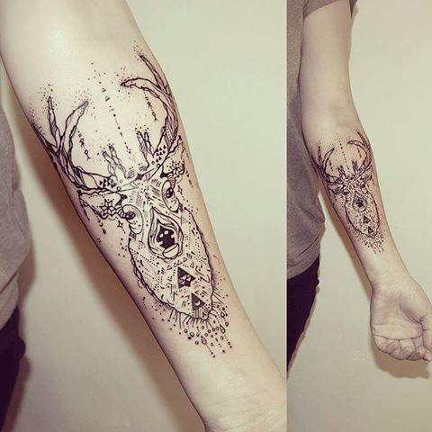Znalezione Obrazy Dla Zapytania Tatuaze Jeleń Pomysły Na Tatuaż