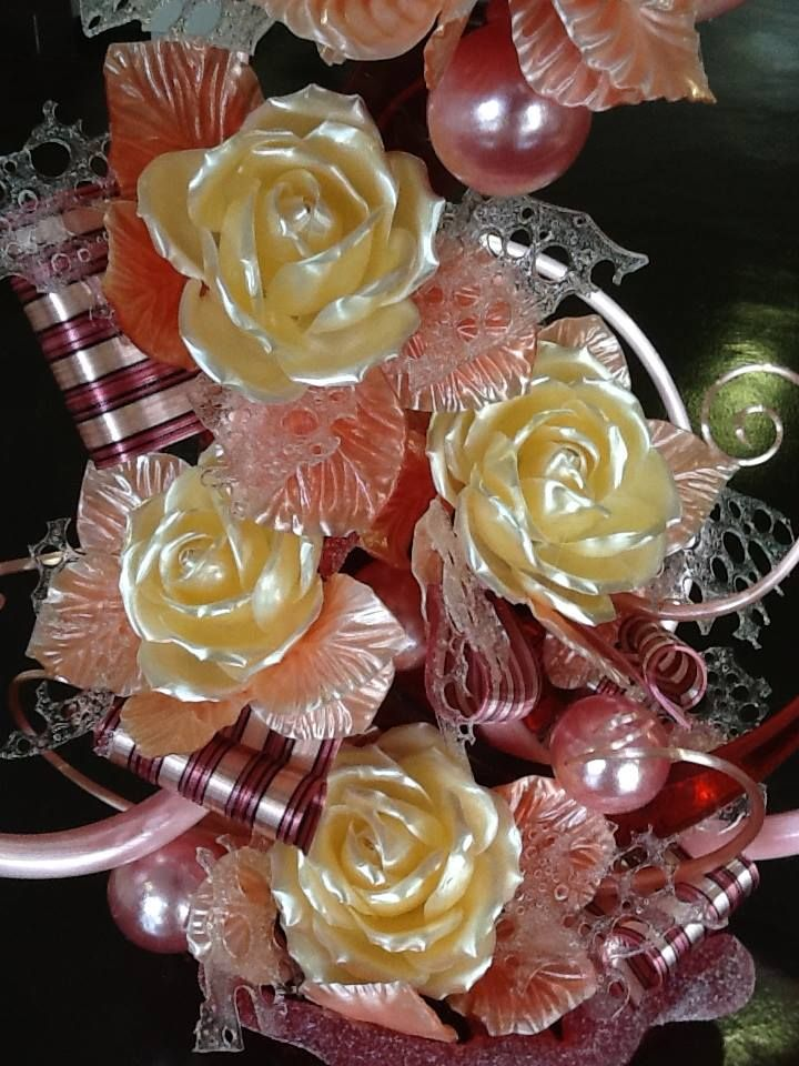фото цветы из карамели разлома