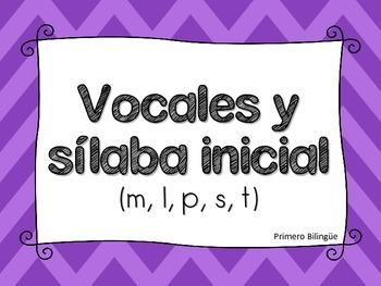 Vocal y Sílaba inicial