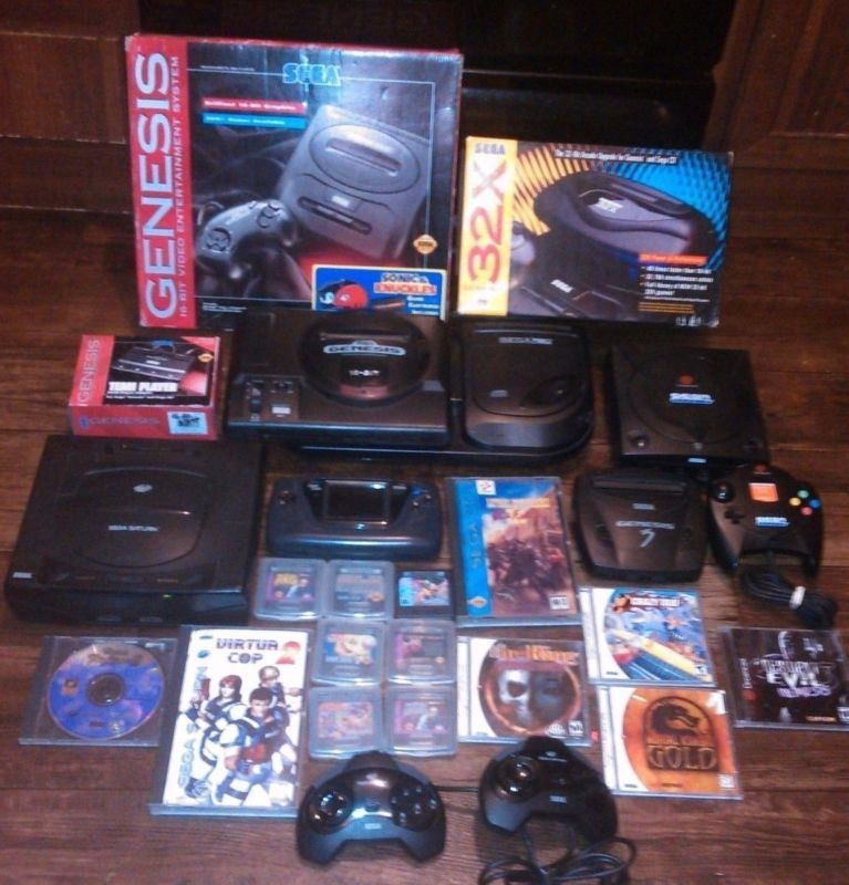 Awesome Sega Saturn Dreamcast Genesis Sega CD Game Gear Sega