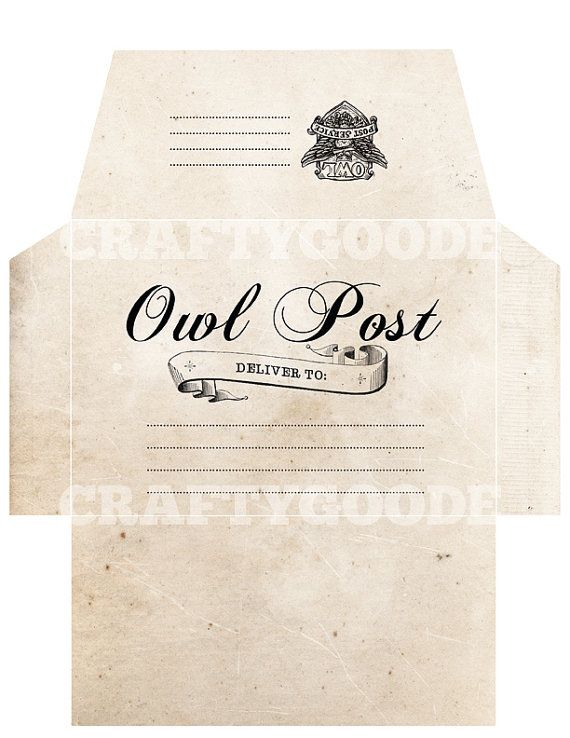 Wild image with regard to harry potter envelope template printable