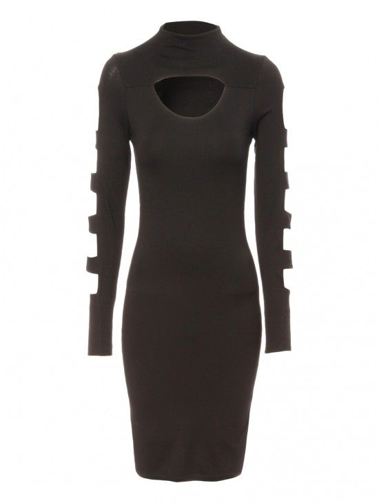 Cut Out Sleeve Bodycon Dress | Jane Norman