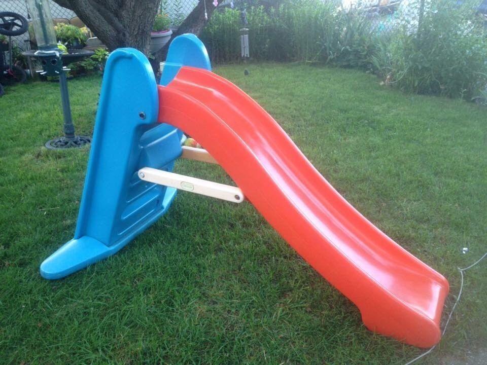Little Tikes Orange Slides : Vintage little tikes large slide orange blue