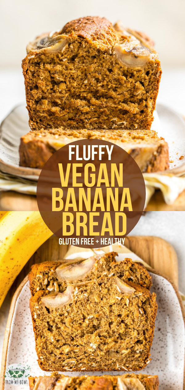 Fluffy Vegan Banana Bread #nutritionhealthyeating This Vegan Banana Bread is flu…