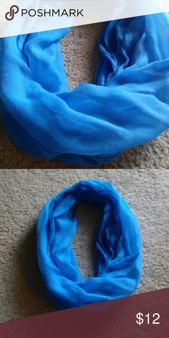 Pretty Blue Scarf Infinity Scarf Accessories Scarves & Wraps