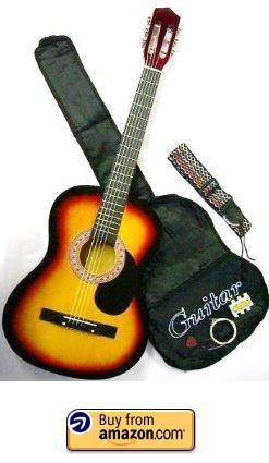 38 Inch Student Acoustic Guitar Kit Selena Shops Acoustic Guitar Kits Guitar Guitar Kits