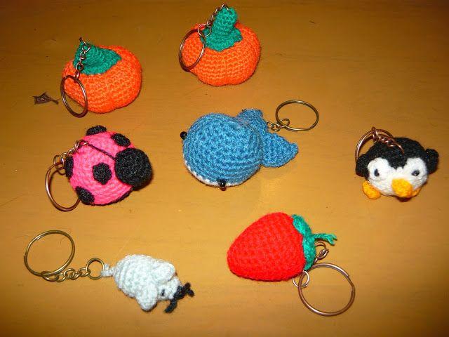 Amigurumis Pequeños Para Llaveros : Resultado de imagen de llaveros amigurumi crochet