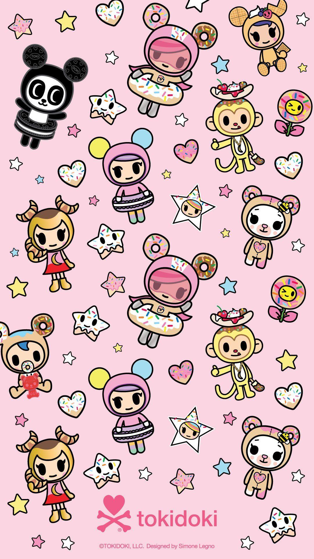 Donutella And Her Sweet Friends Wallpapers Tokidoki In 2021 Kawaii Girl Drawings Tokidoki Characters Friends Wallpaper