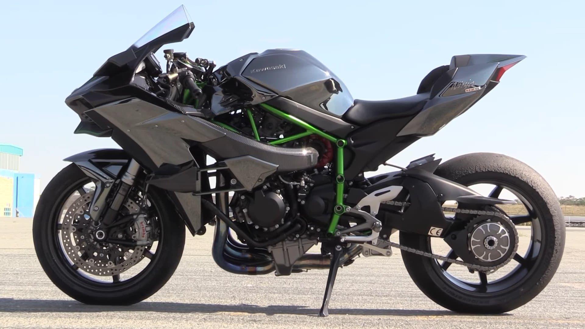 Sport Bike Motorcycle Black Kawasaki Ninja H2r Carbon