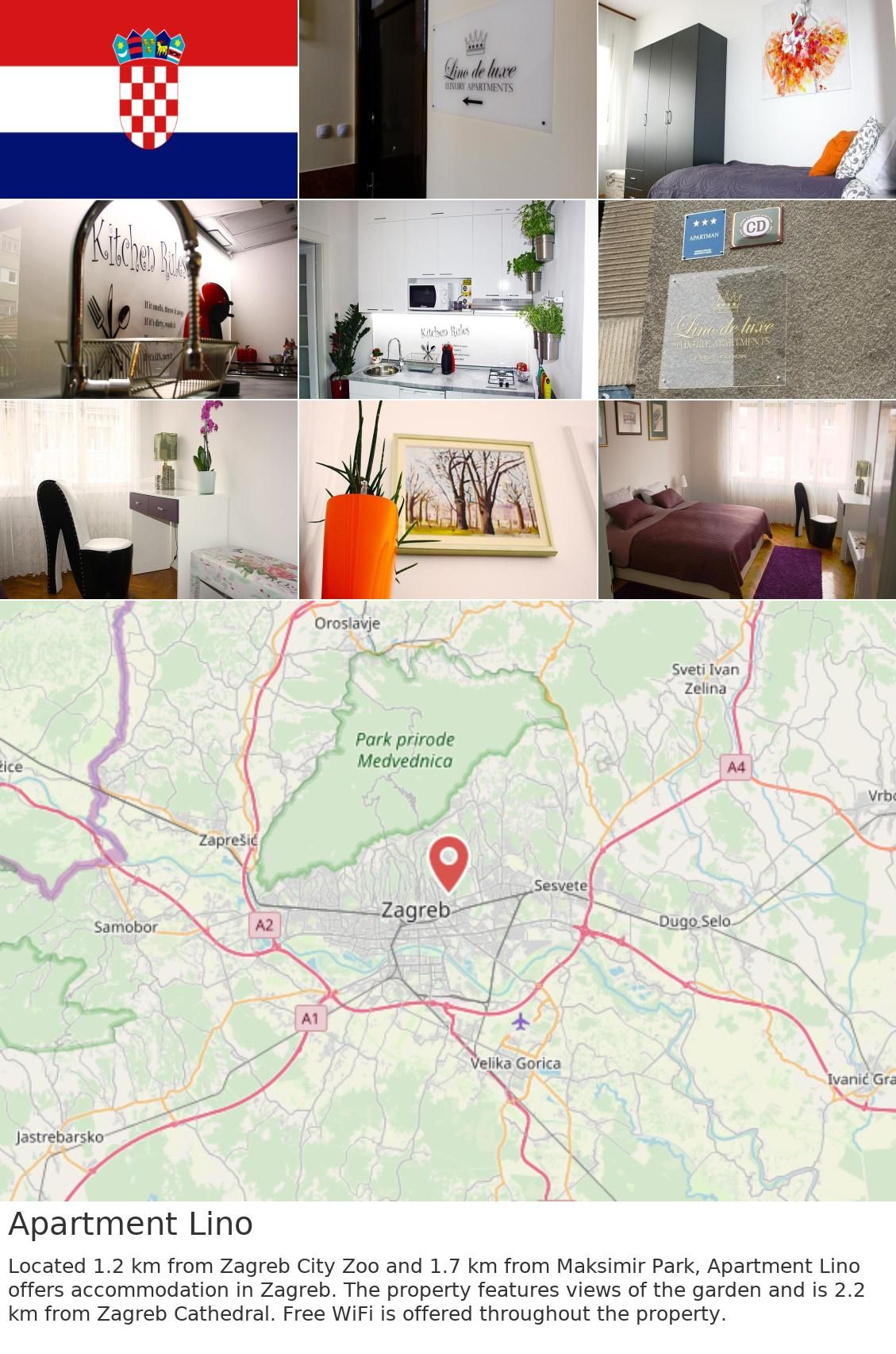 Europe Croatia Zagreb Apartment Lino Located 1 2 Km From Zagreb City Zoo And 1 7 Km From Maksimir Park Apartment Lino Offers Accommodation In Zagreb The P
