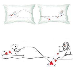 5 Fun U0026 Romantic Pillow Cases   Perfect Unique Gifts For Couples!