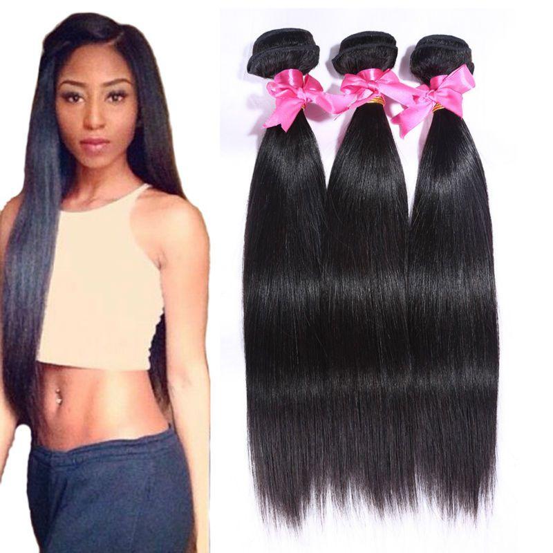 Best Quality Eurasian Virgin Hair Straight 4bundle Deals Unprocessed