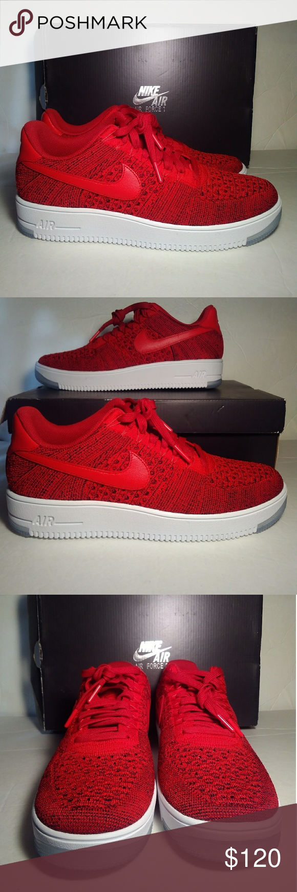 1b89eac8e907 Nike Air Force 1 Ultra Flyknit Low Men Size 10.5 Nike Air Force 1 Ultra  Flyknit Low 817419-600 University Red-White Men Sz 10.5 Nike Shoes Sneakers