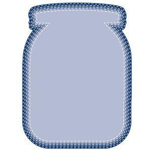Silhouette Design Store: stitched nested mason jars