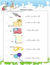 Materials Of Objects Science Worksheet For 3rd Grade With Images
