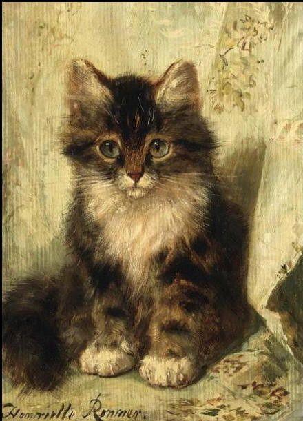 14-Chats dans l\'art classique ( H.R.K) | Peintre (Henriette Ronner ...