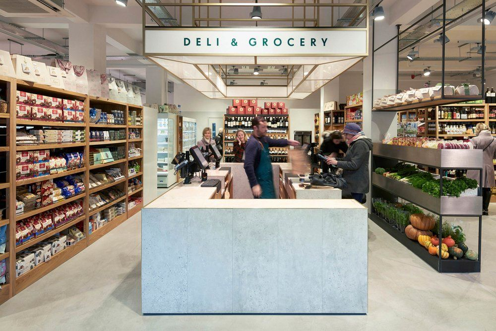 An Iconic London Food Destination Gets A Modern Brand Refresh Grocery Store Design Supermarket Design Grocery