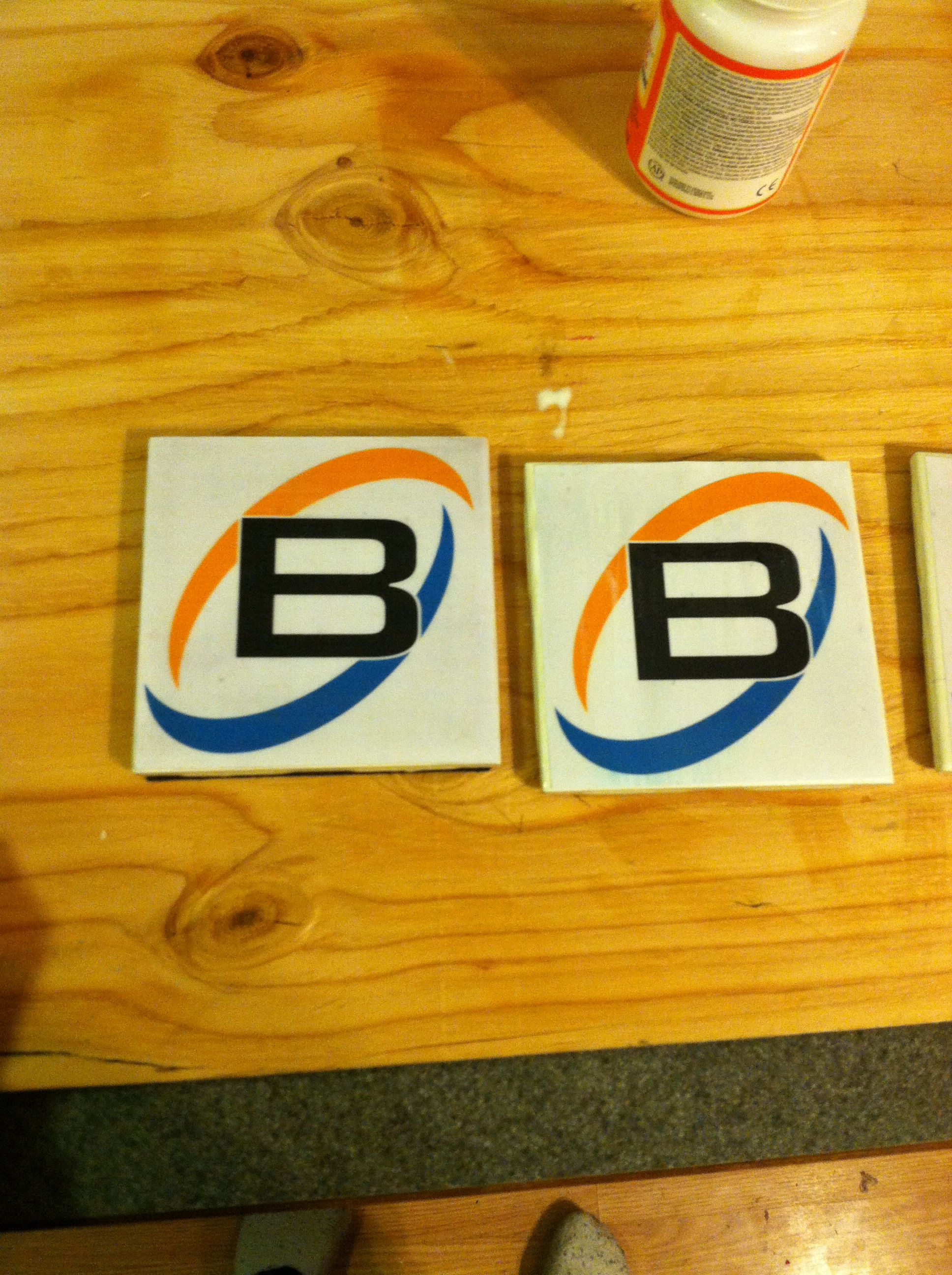 Homemade Barron heating coasters