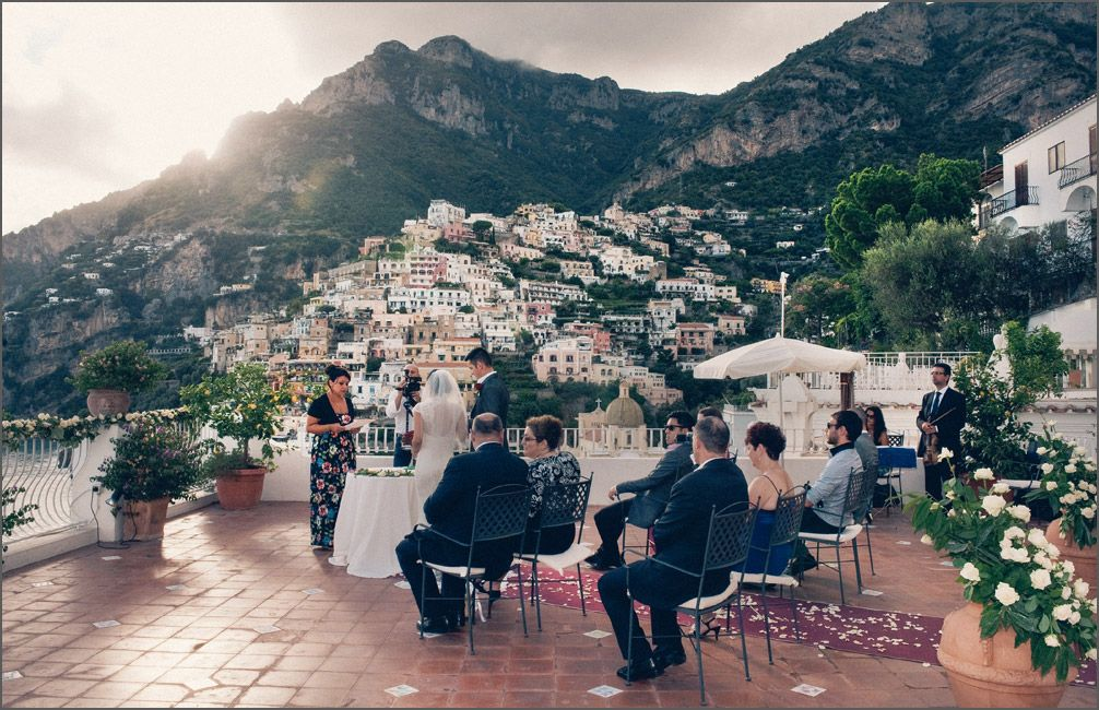 A symbolic wedding ceremony in Positano at Hotel Marincanto. Wedding ...