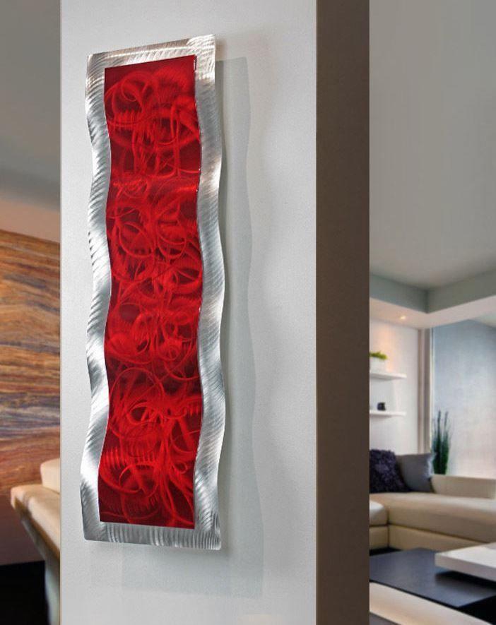 """Modern Abstract Painted Metal Wall Art Sculpture """"Inner Fire 1""""  Jon Allen #Statements2000JonAllenMetalArt"""