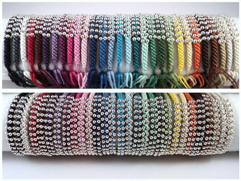 Geknoopte lucky armbandjes in 31 kleuren. A1 van Unycq  op DaWanda.com