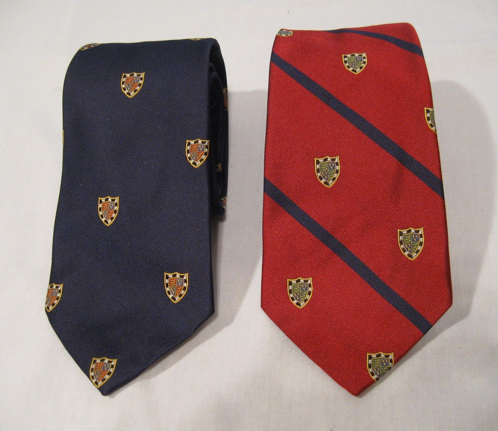 0764744bc4be Polo Ralph Lauren 100% Silk Tie NWT Red or Navy with Crest