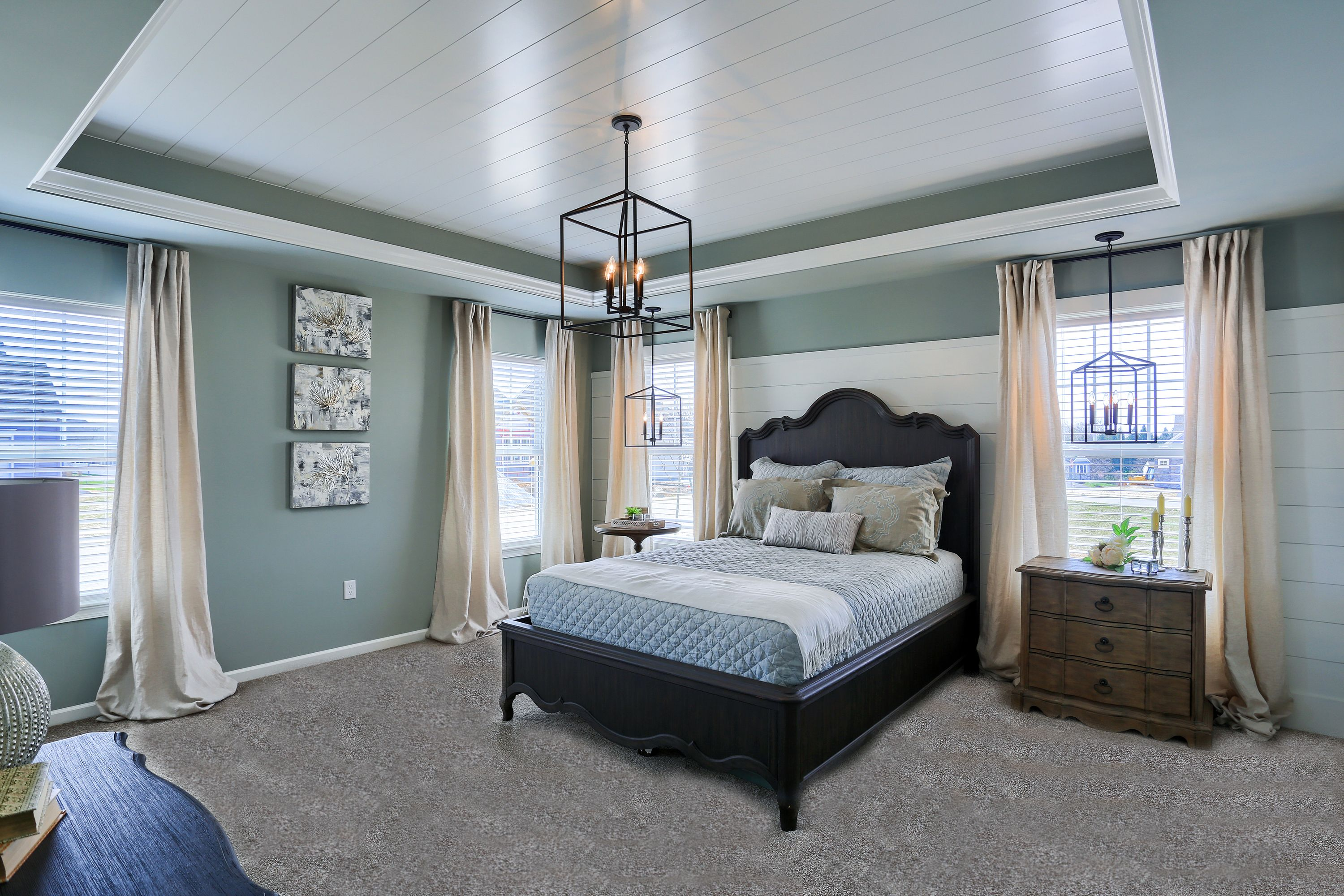 90 Degree Tray Ceiling With Shiplap Detail I1036b Ceiling Design Bedroom Tray Ceiling Home