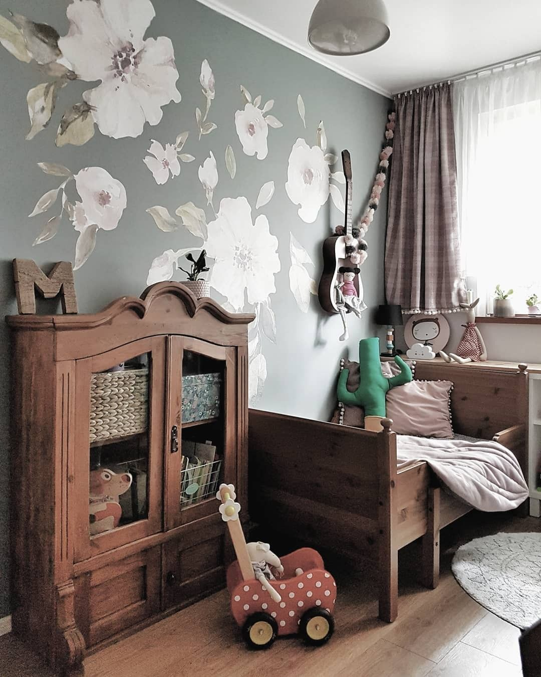 Girls Bedroom Wooden Furniture Pokoj Dziewczynki Kid Room Decor