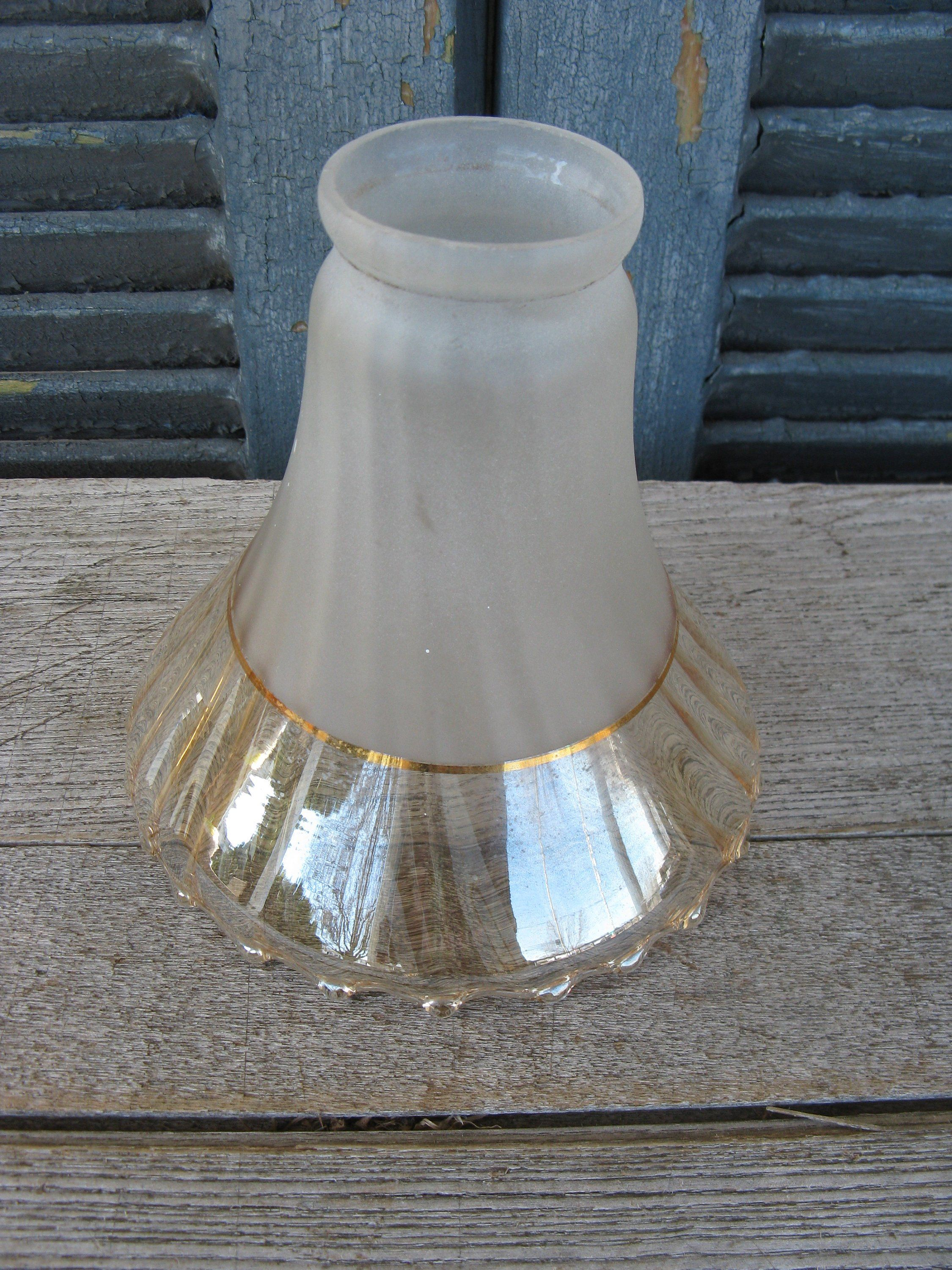 Peach Re Satin Gl Lamp Shade