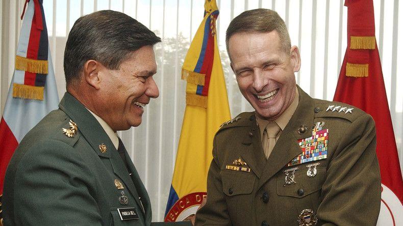 """Die zunehmend zum """"Vorwärtsverteidigungsbündnis"""" mutierende NATO will ihren Kompetenzbereich auf Lateinamerika ausdehnen. So soll zunächst Kolumbien zum Partner eines Assoziierungsabkommens werden. Bogotá hat vor allem innenpolitische Motive für den Schritt."""
