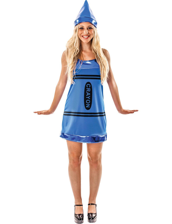 Women's Blue Crayon Fancy Dress Costume   To be, Fancy dress ...