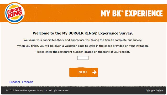 wwwmybkexperience - Burger King Guest Satisfaction Survey - satisfaction survey