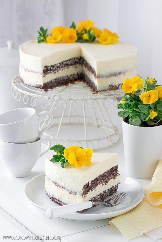 Tort Makowo Cytrynowy Z Lemon Curd Gotuje Bo Lubie Poppyseed