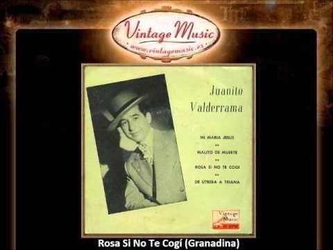 Juanito Valderrama -- Rosa Si No Te Cogí (Granadina) (VintageMusic.es)