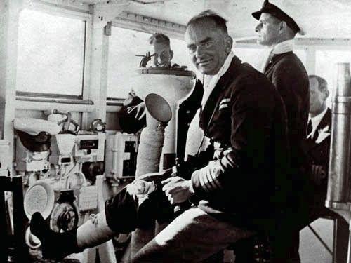Hms Achilles Captain W E Parry Dresses His Leg Wounds Following
