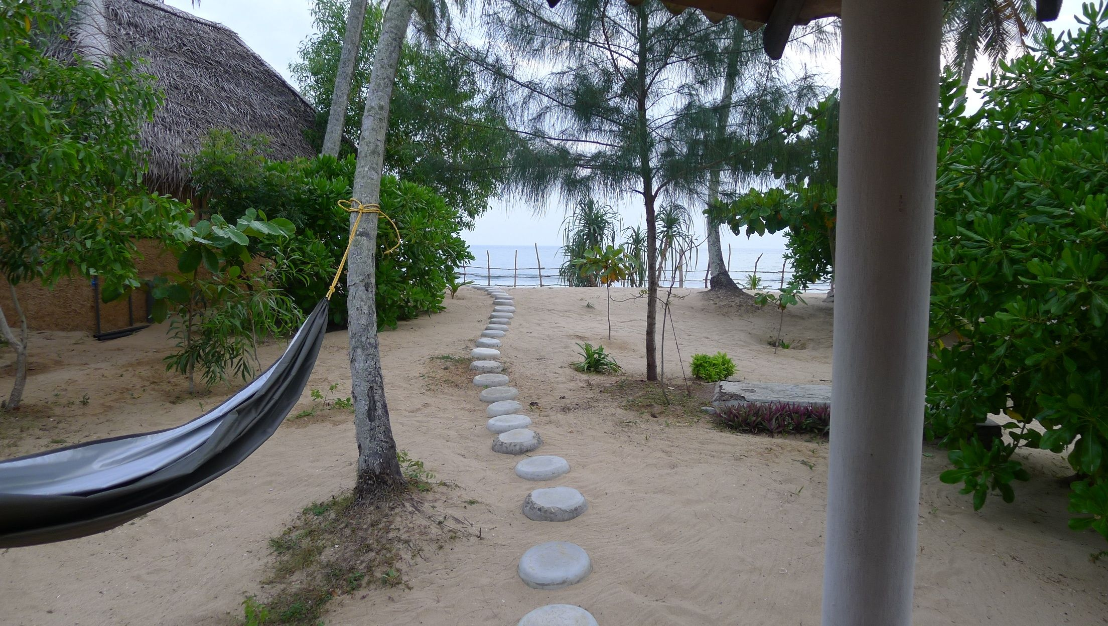 From the room to the beach, Tangalle, Sri Lanka