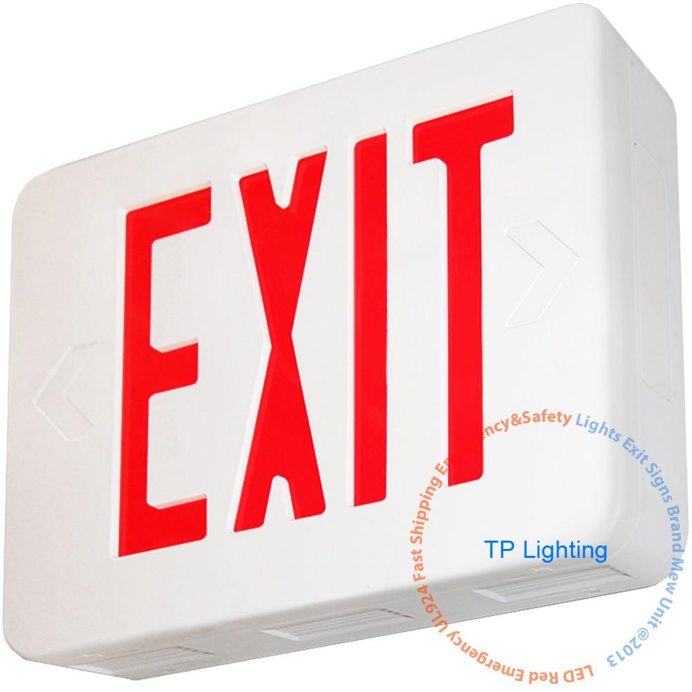 Red Led Emergency Exit Light Sign Modern Battery Backup Ul924 Red Letter Emergency Exit Signs Exit Sign Safety Lights