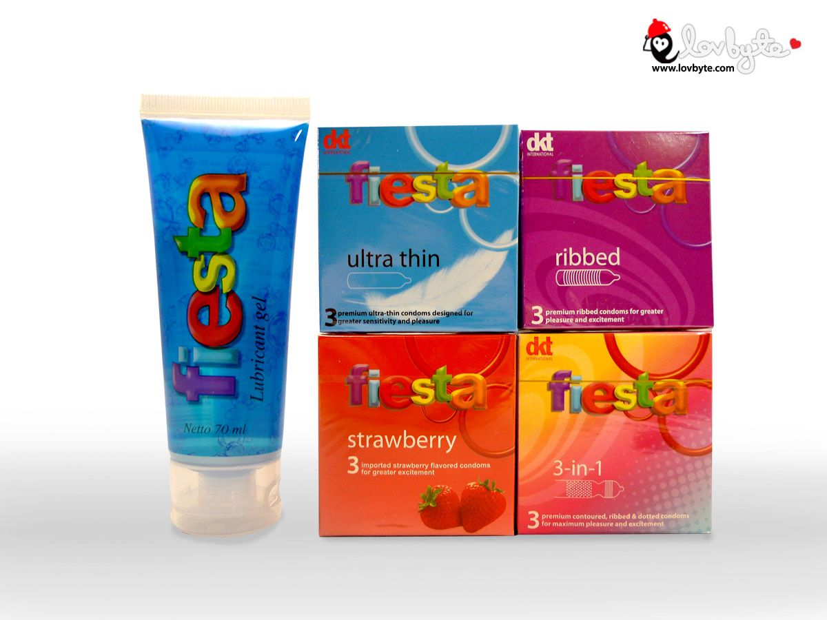 Fiesta Collection Condom Available At Lovbytecm Types Strawberry Lubricant