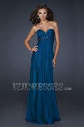 Love the color.  Love the dress.  But I don't have the boobs.  Too bad.  A-Line Sheath/Column Strapless Sweetheart Chiffon Prom Dress - IZIDRESSES.COM