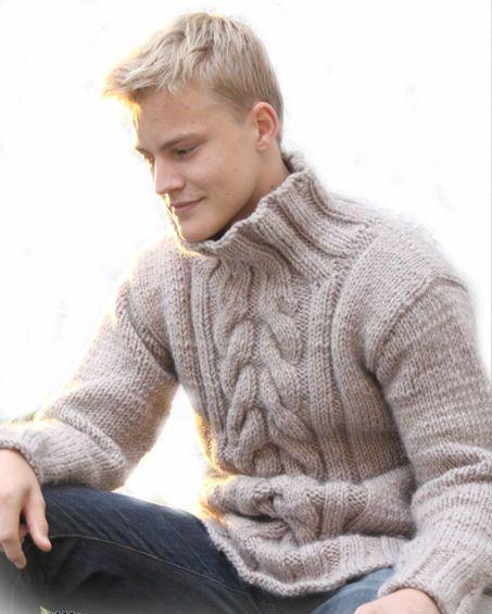 Sur la pull avec torsades vente la main en tricot homme de tricot pinterest tricot homme - Tricot a la main ...