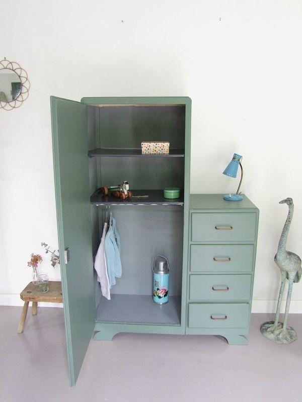 Armoire Asymetrique Vintage Relooking Armoire Armoire Chambre Enfant Mobilier De Salon