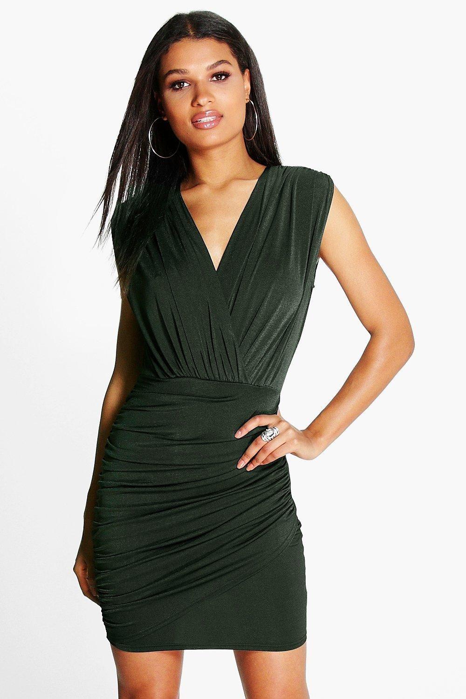 Jemma wrap front bodycon dress straliaqldproduct