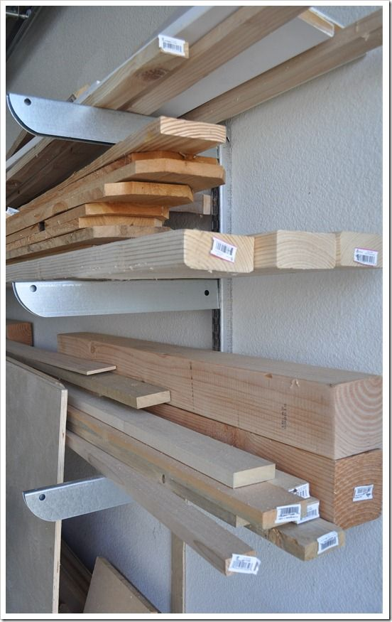 Adjustable Lumber Storage Great Idea For The Home
