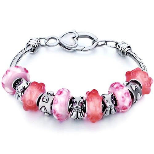 bfa3e2c8a04f4 Pink Murano Glass Beads Fit Pandora Chamilia Charm Bracelet ...