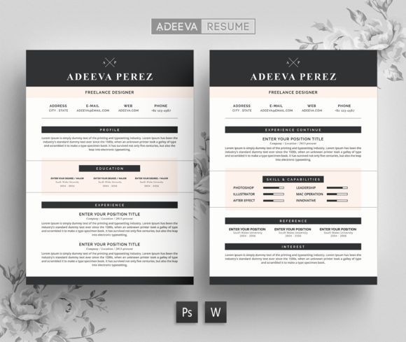 Great Modern Resume Template Perez CreativeWork247 - Fonts, Graphics - modern resume tips