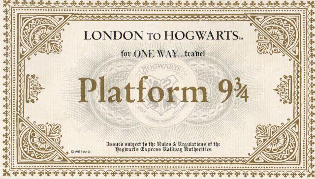 Jessie From The Blog Diy Hogwarts Acceptance Letter  Platform
