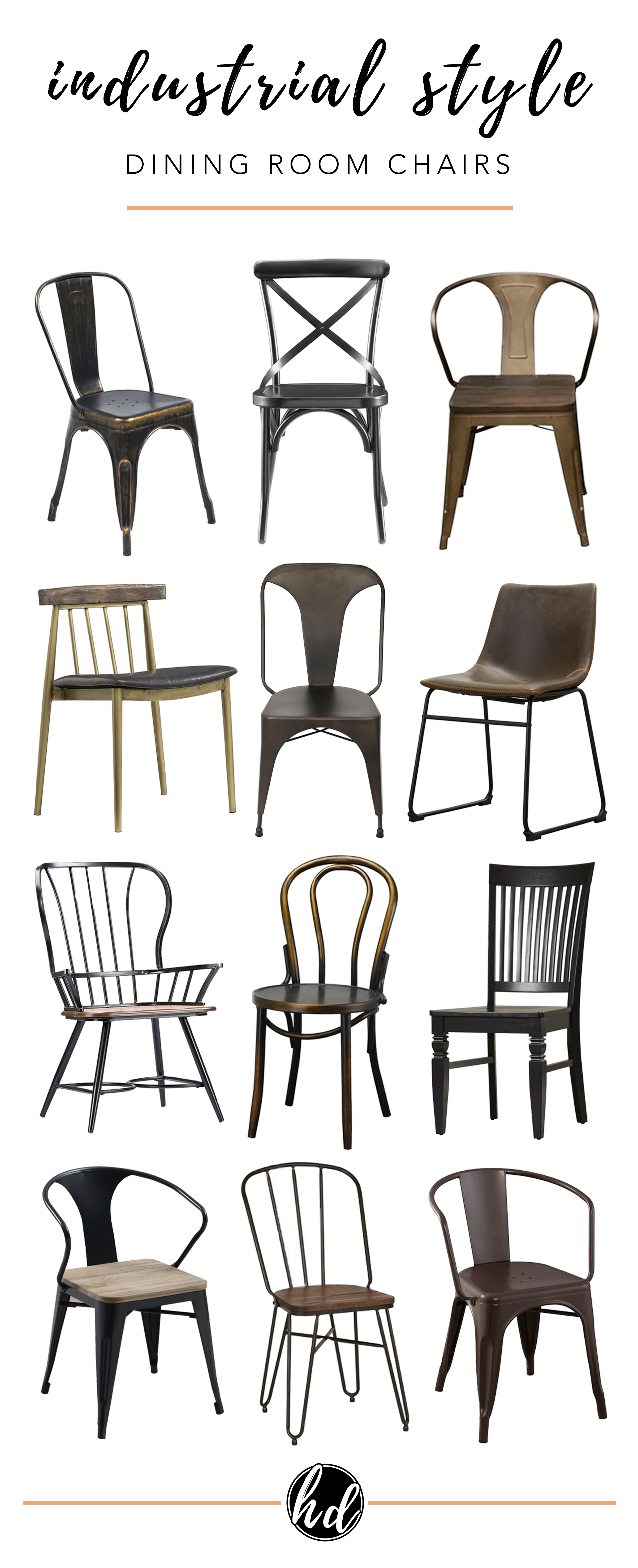 Affordable Modern Industrial Dining Chairs Dining Room