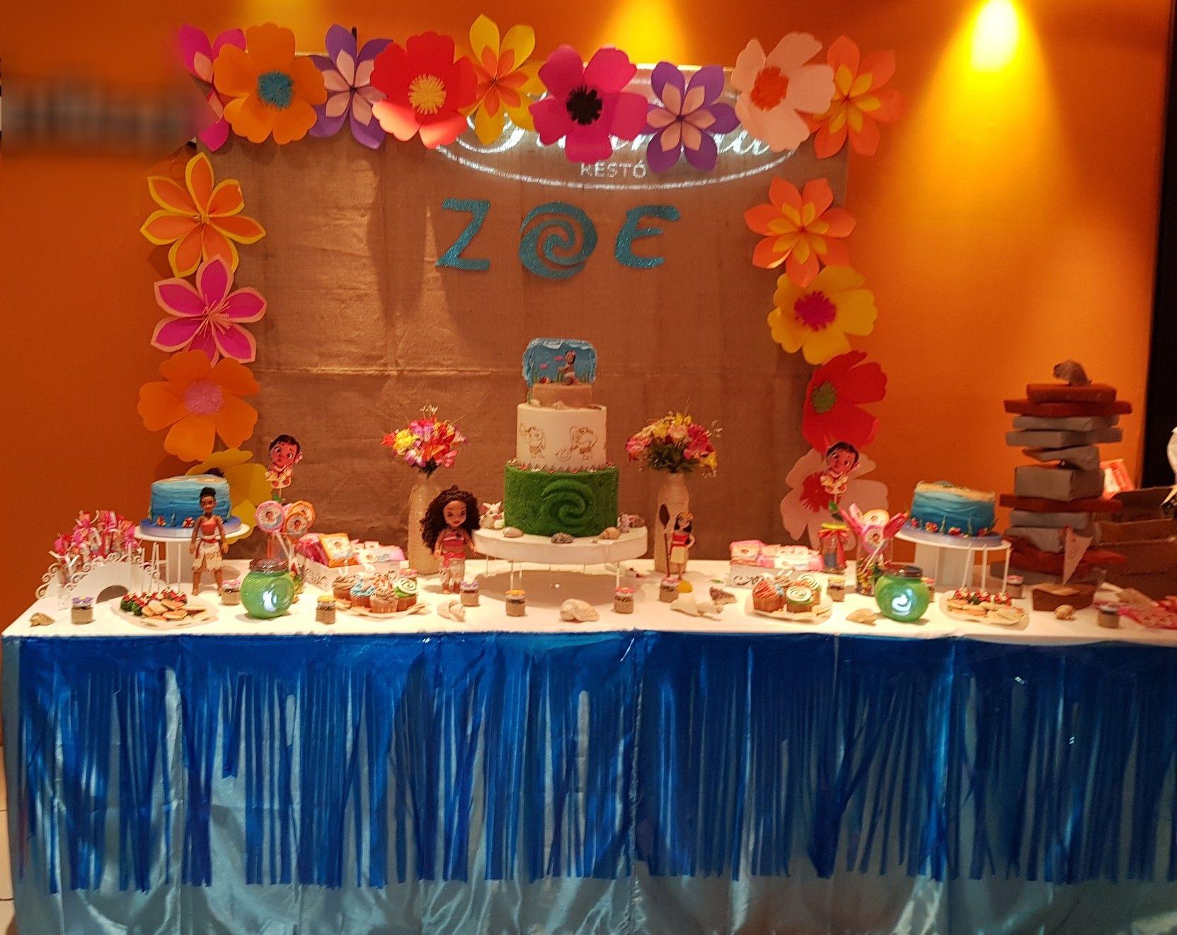 Mesa Moana Decoracion Mesas De Cumplea 241 O Birthday Cake
