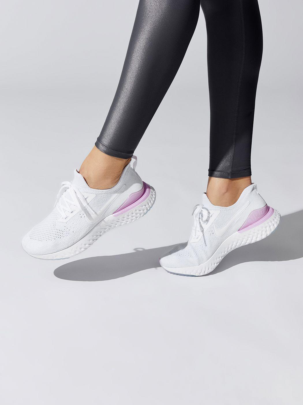 Nike Epic React Flyknit 2 in Whitewhite pink Foam | Nike