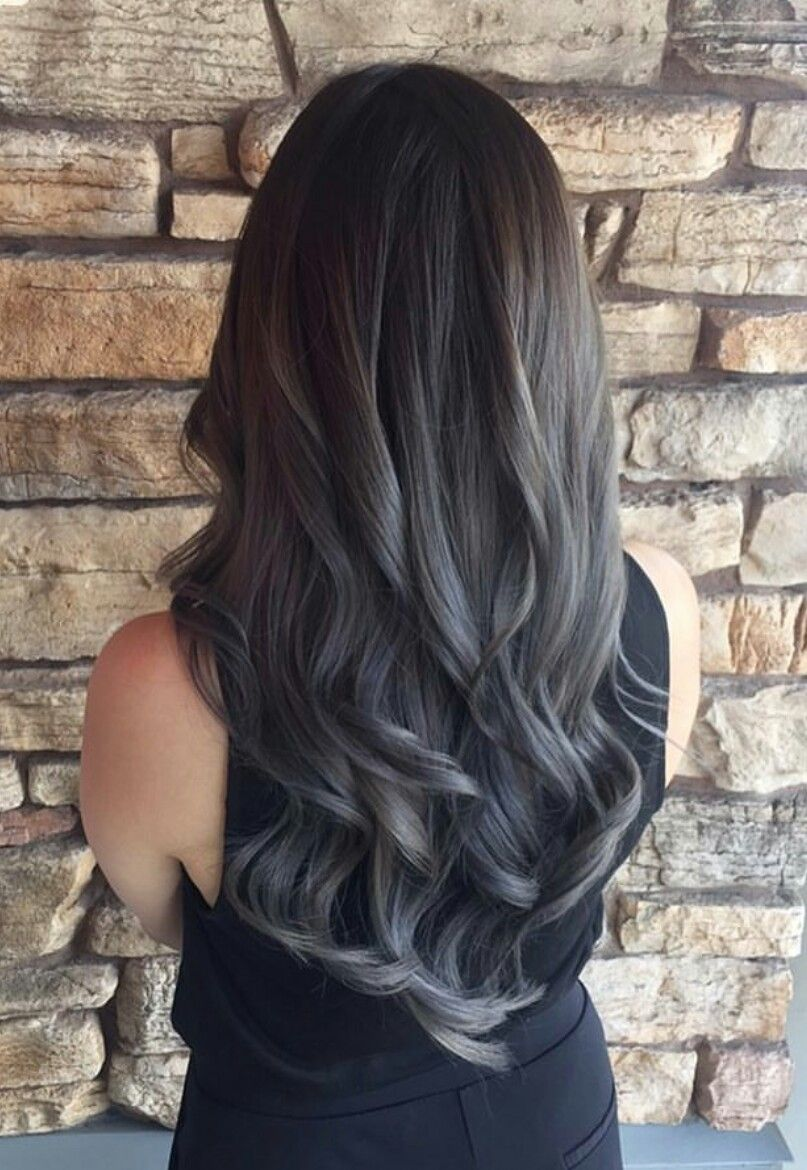 black grey ombre hair uphairstyle